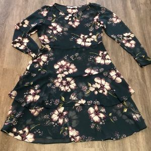 Cupcakes and Cashmere Sheer Floral Midi Dress
